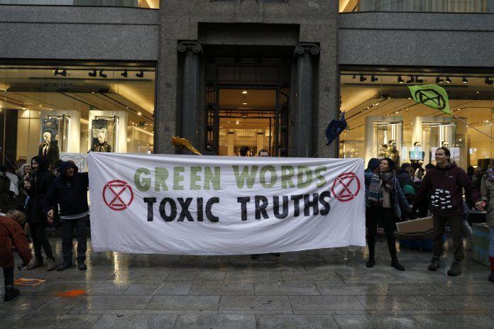 Activistas de 'Extinción Rebelión'
