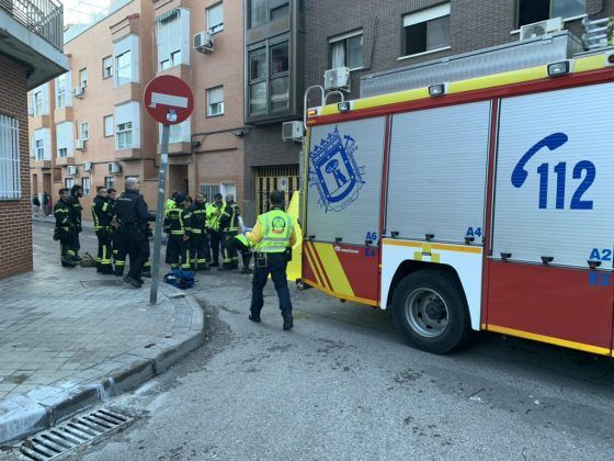 Incendio en Villa de Vallecas