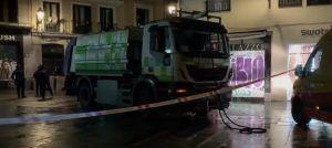 El camión de basura que atropelló al hombre de 65 años