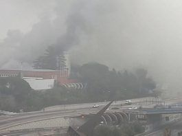 Incendio en Instituto Eduardo Torroja