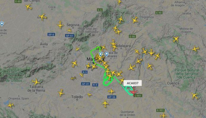 Aterrizaje forzoso en Barajas