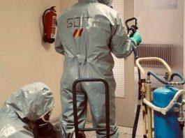empresa desinfectará Policía