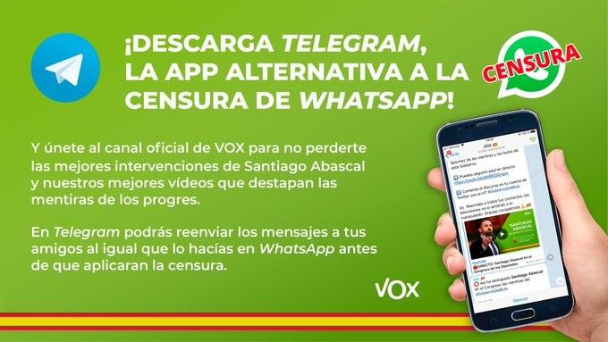 Vera campaña Whatsapp Telegram