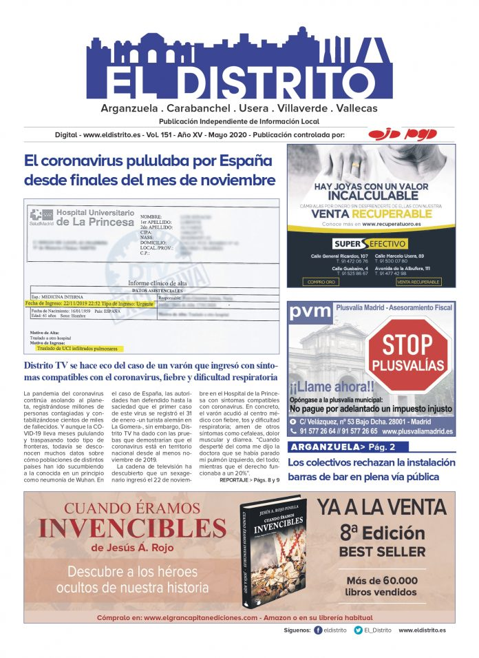 PORTADA ARGANZUELA MAYO 2020