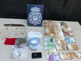 Objetos encontrados en el narcopiso