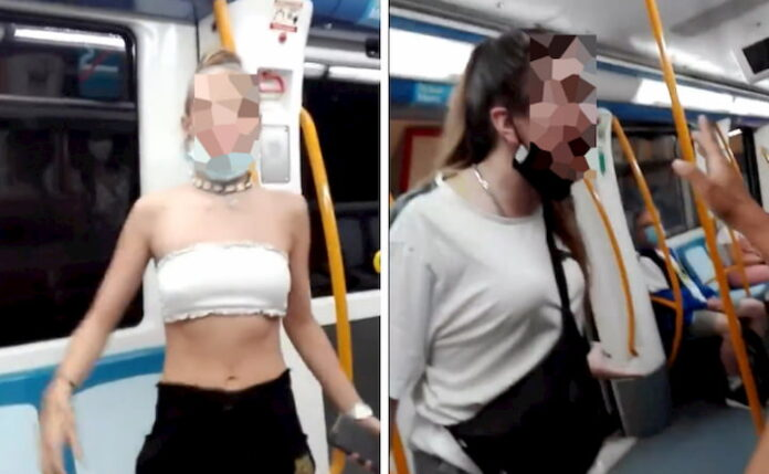 Liberadas las dos menores que insultaron y escupieron a una pareja inmigrante en el Metro de Madrid