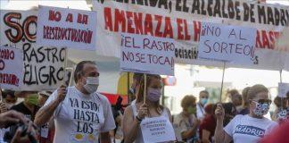 """Mercadillo de El Rastro podría volver a instalarse con un """"perímetro Covid"""""""