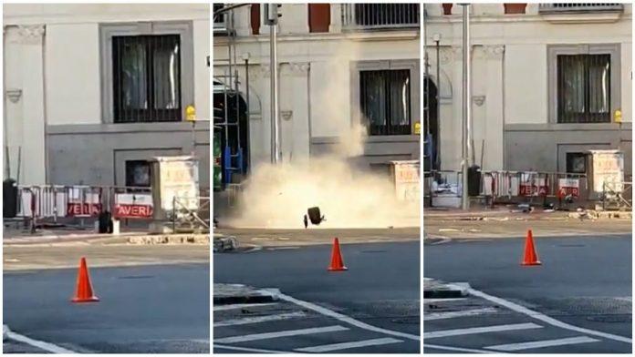 Explotan la mochila de un hombre que fingía llevar explosivos en la estación Rubén Darío