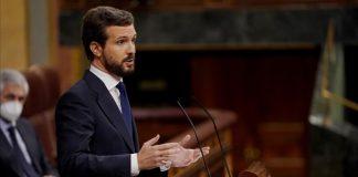 """Casado votará """"no"""" a la moción de censura: """"Es una mentira más de VOX"""""""
