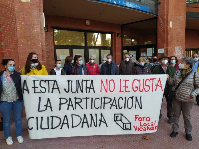 Foro Local de Vicálvaro denuncia que la participación vecinal en el distrito está